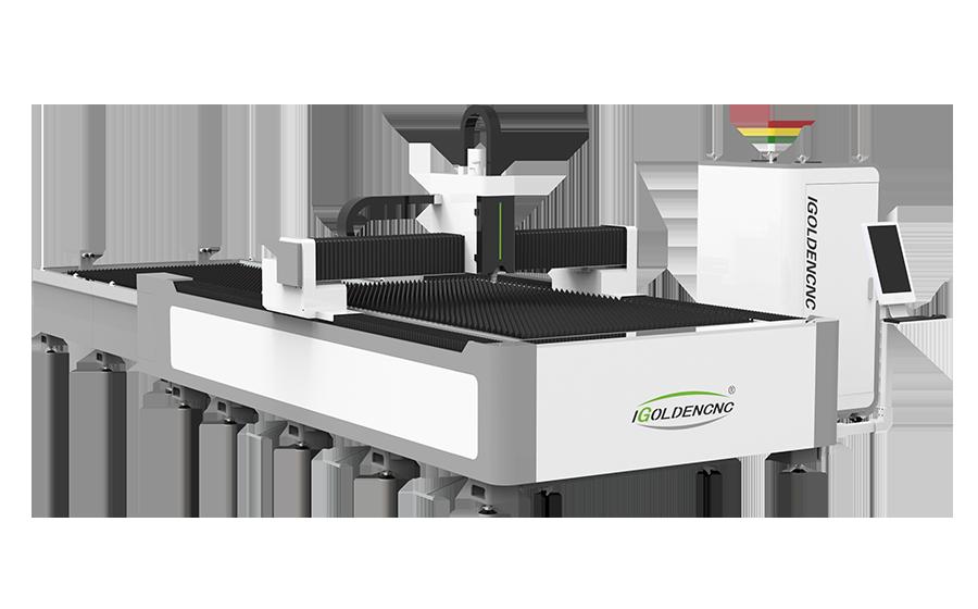 Faser-Laserschneidemaschine mit Tauschtisch