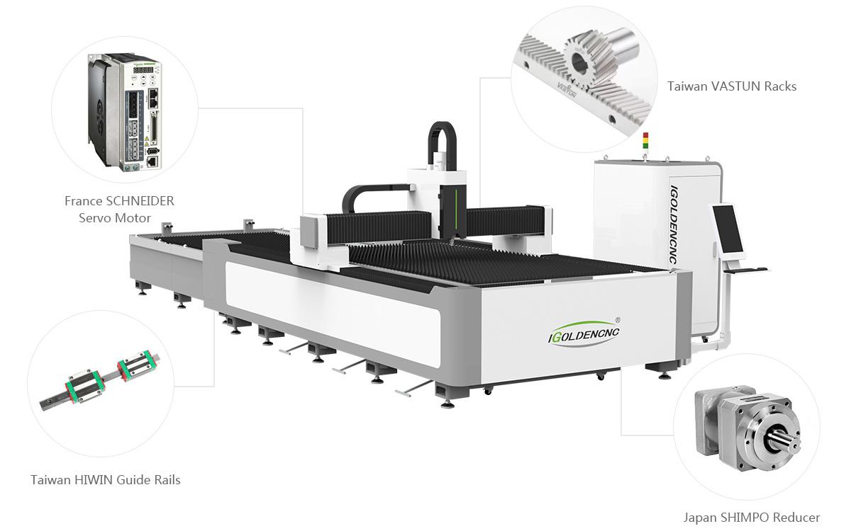 Hochpräzises Übertragungssystem für Laserblech-Schneidemaschine