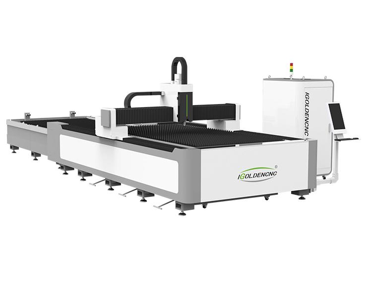Machine de découpe laser à fibre avec plate-forme d'échange IGR-E